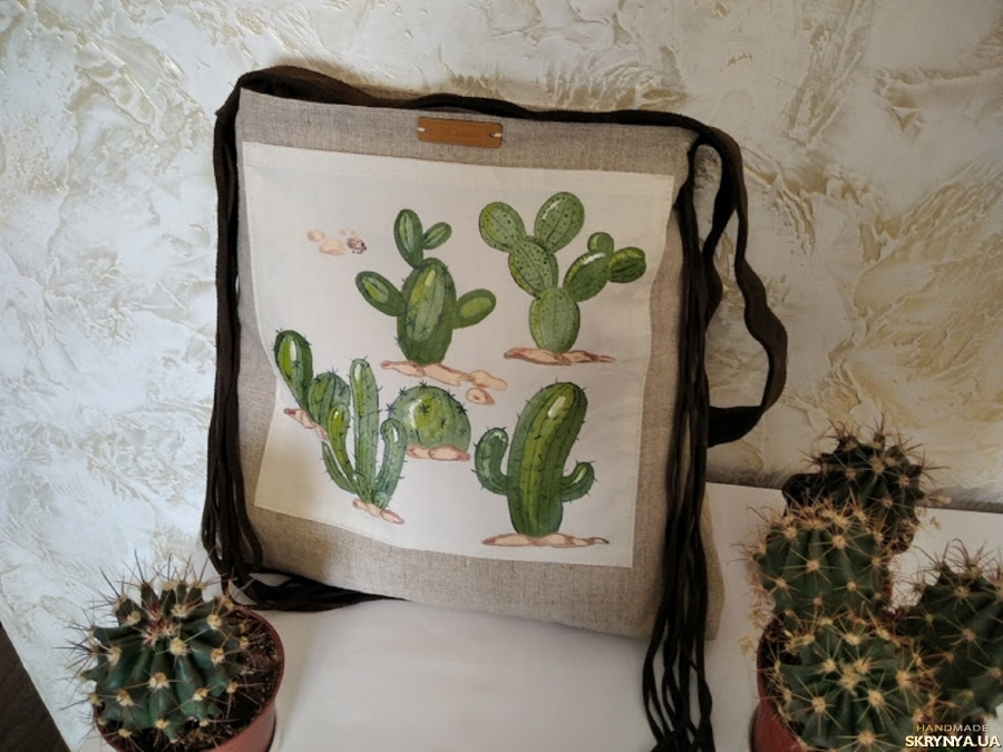 pictured here Exclusive hand-painted bag in a deliberately casual style Wild West