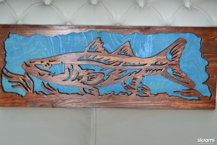 тут изображено лосось