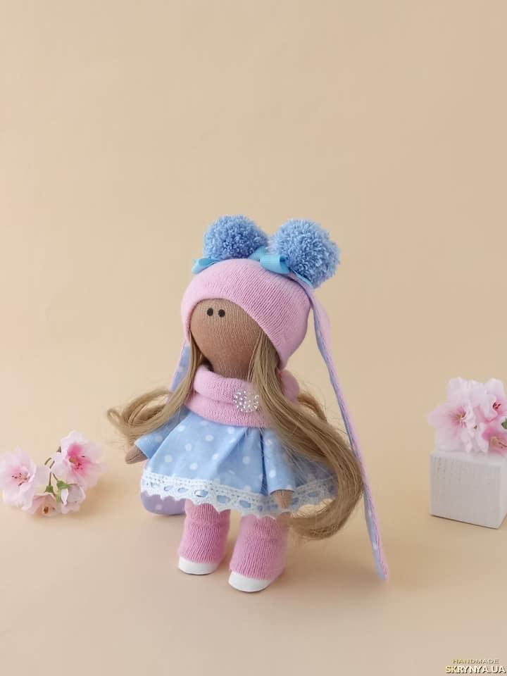 Кукла текстильная.Зайка ручной работы. Кукла тильда. Лялька.