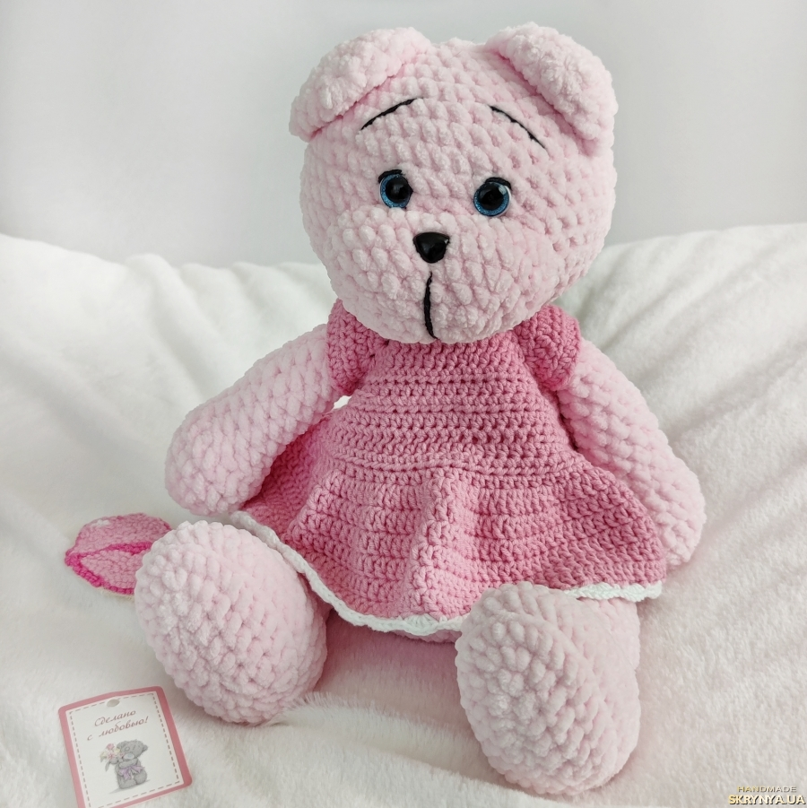 pictured here Teddy pink bear in a dress