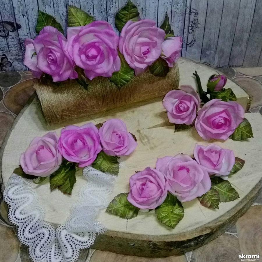 тут изображено Очень нежный набор аксессуаров ′Розовые сны′ из фоамирана