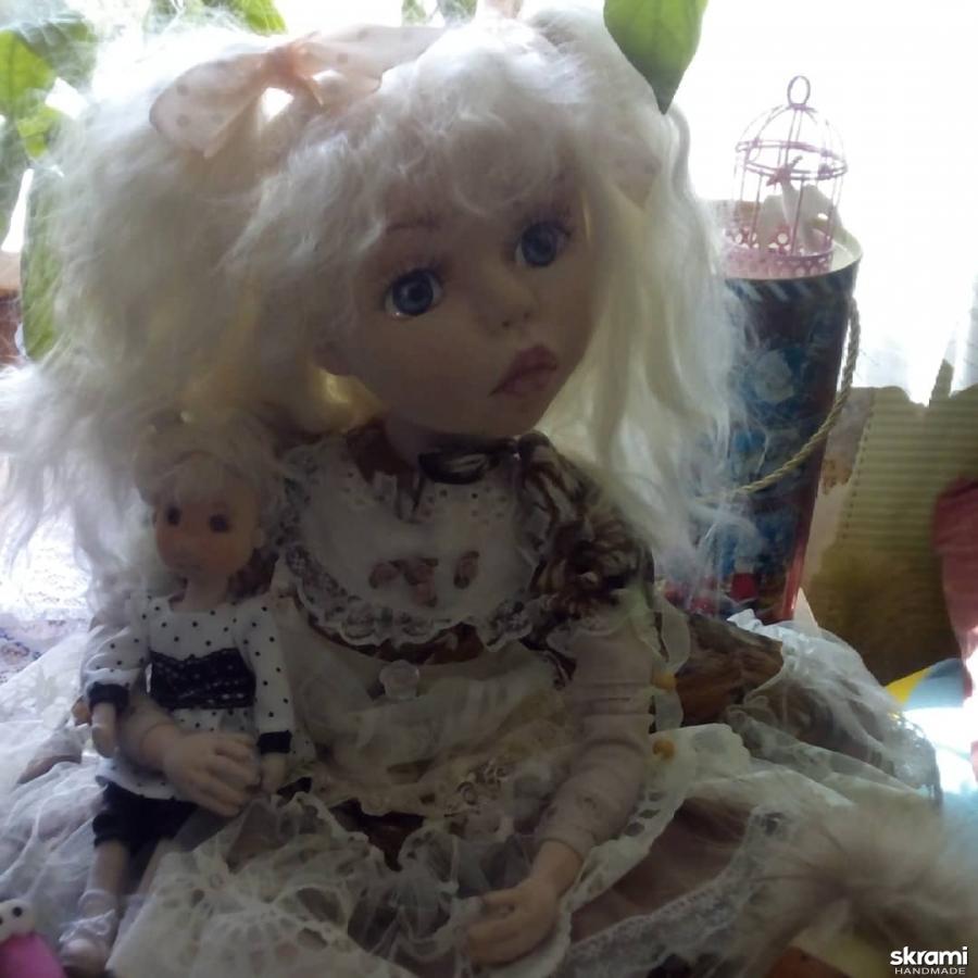 тут изображено Интерьерная кукла ручной работы