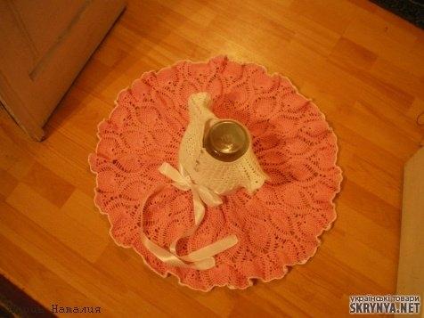 тут изображено Ажурное летнее платье