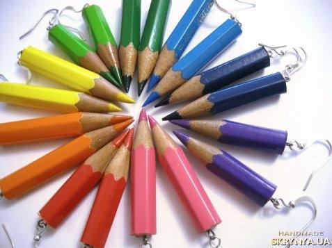 тут изображено Серьги-карандаши