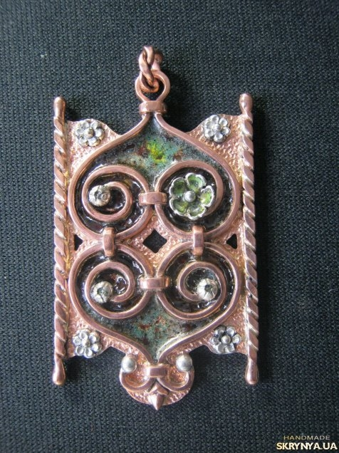pictured here Gothic Curl Pendant.