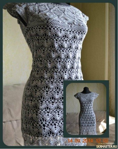 тут изображено Платье«Серая дымка»