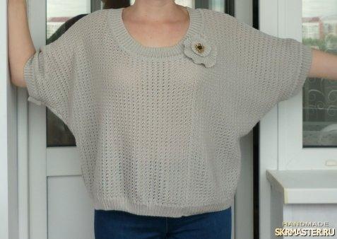 тут изображено «Серая элегантность» блузка.
