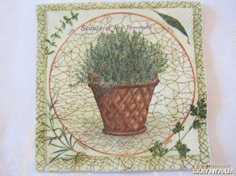 тут изображено Салфетка «Травы Прованса»