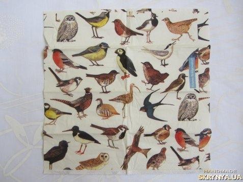 тут изображено Платочек «Птички» 21х21