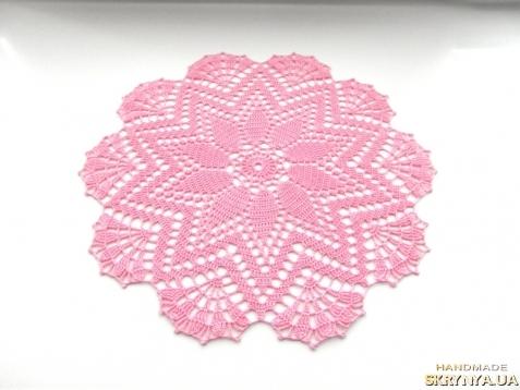 тут изображено Серветка рожева