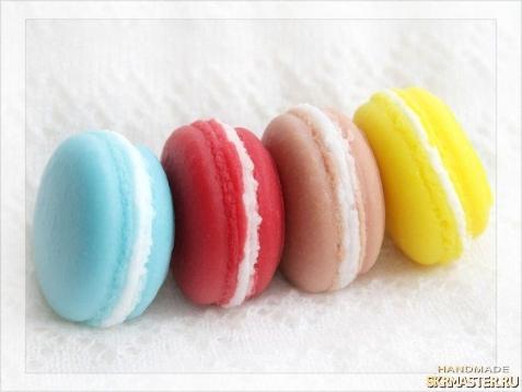 тут изображено Мыло Печенье Макарун Набор 3 шт