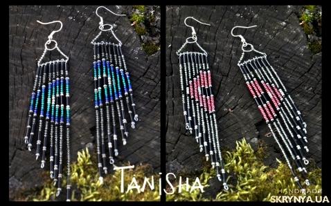 тут изображено Серьги Tanisha beads амулет