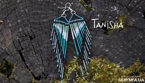 тут изображено Серьги Tanisha beads Meteora (бирюза)