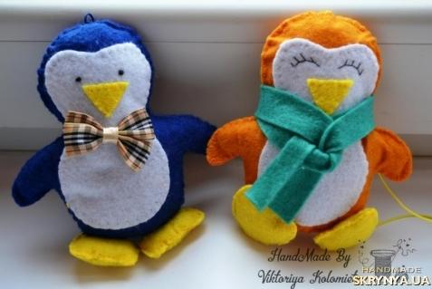 тут изображено Набор ёлочных игрушек ′Пингвинчики′
