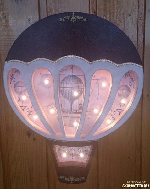 тут изображено Воздушный шар - ночник