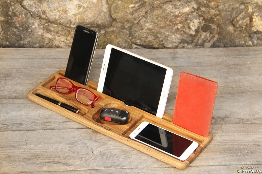 тут изображено Настольный Органайзер Холдер Подставка Для Телефона Планшета iPhone iPad