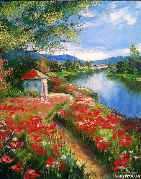 тут изображено Картина маслом′ Цветы лета′
