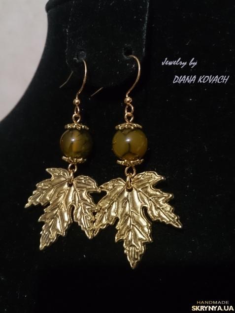 тут изображено Сережки ′Золота осінь′