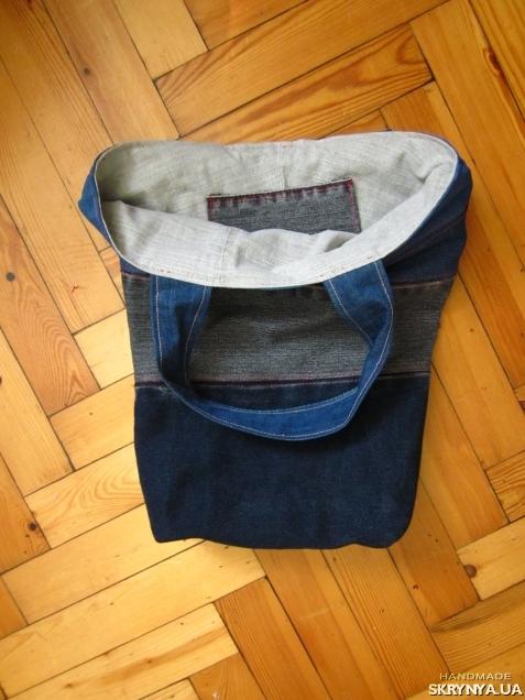 Denim bag jeans shoulder bag Beach bag Hand made Market tote bag