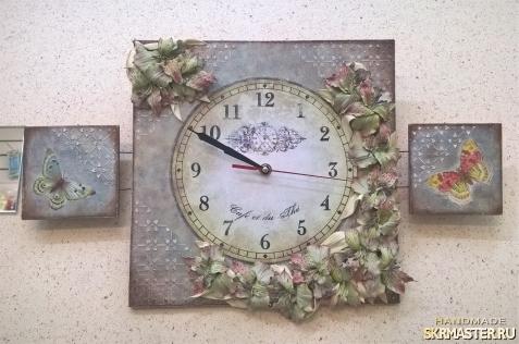 тут изображено Часы-триптих ′РОСКОШЬ′