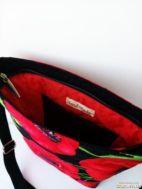 Стильная сумка через плечо.