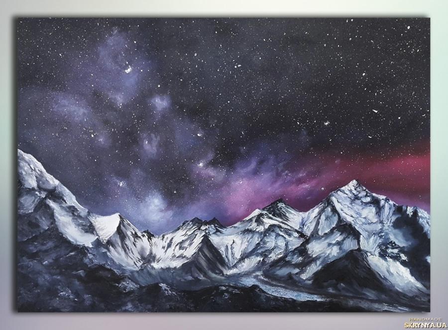 тут изображено Картина «Сияние в горах»-«Сяйво у горах»