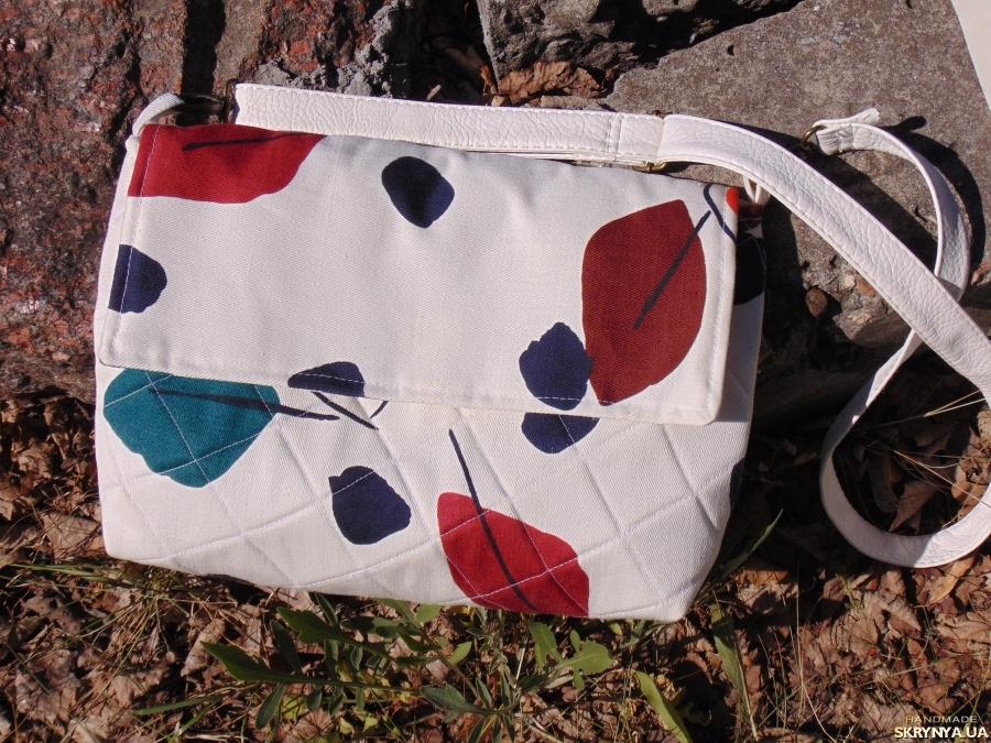 тут изображено Сумка текстильная через плечо