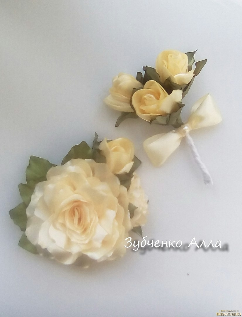 тут изображено Набор аксессуаров для жениха и невесты′Romantic′