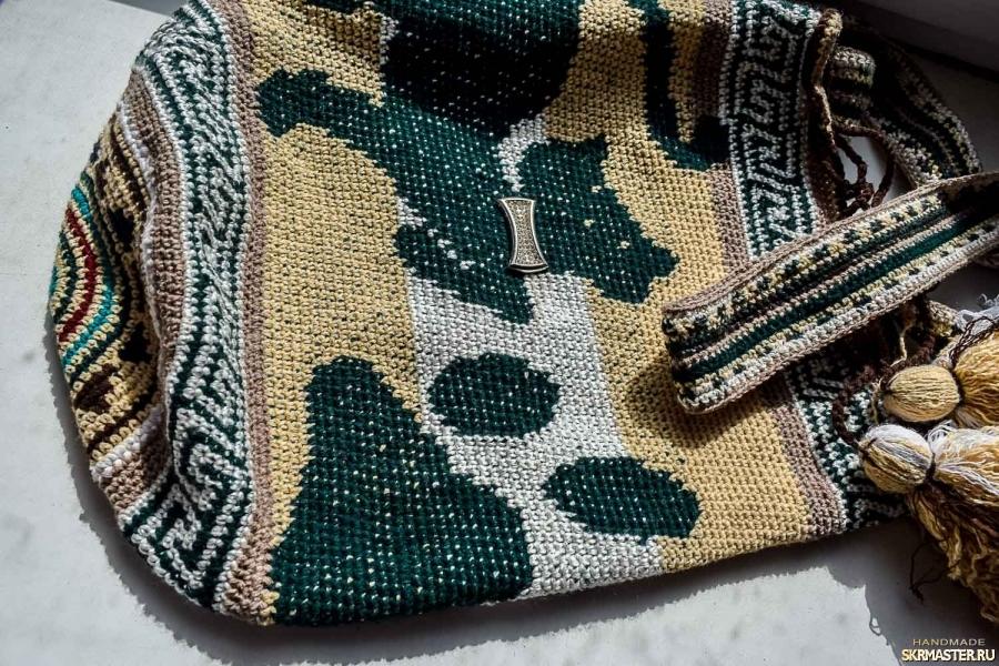 тут изображено Сумка ′Колумбийская мочила′