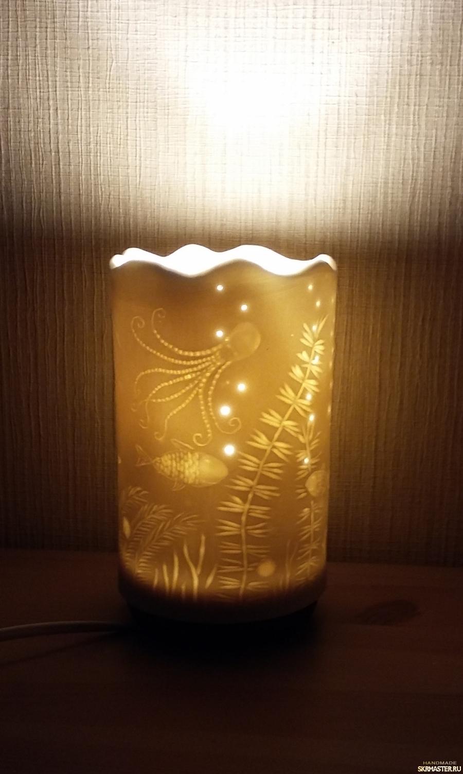 тут изображено Лампа′Атлантида′.Фарфор.