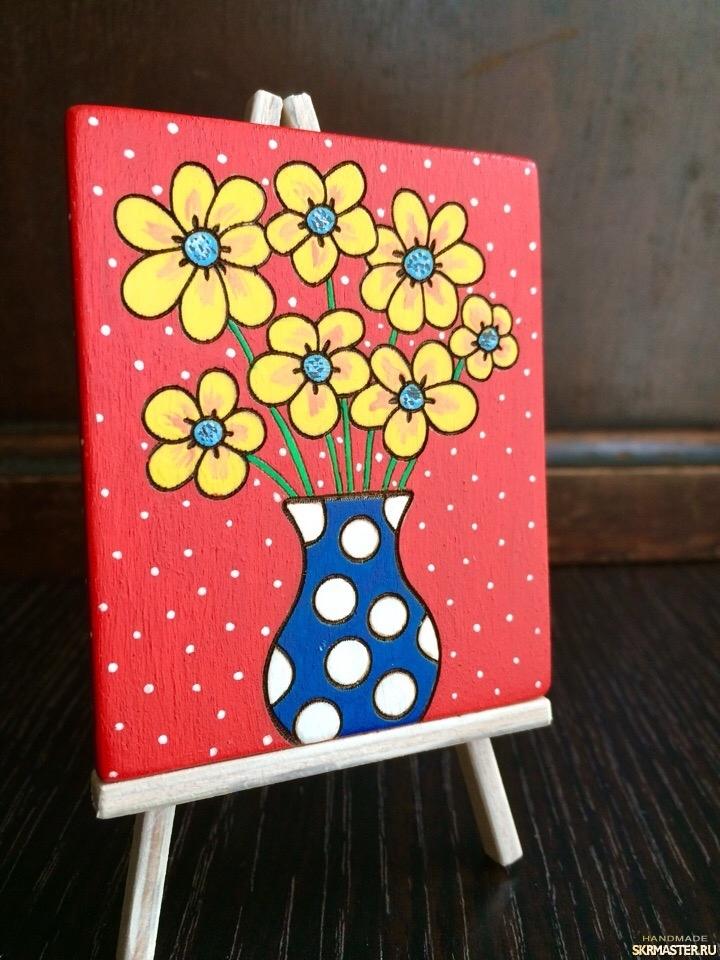 тут изображено 080618_магнит_горшочек с цветами_1