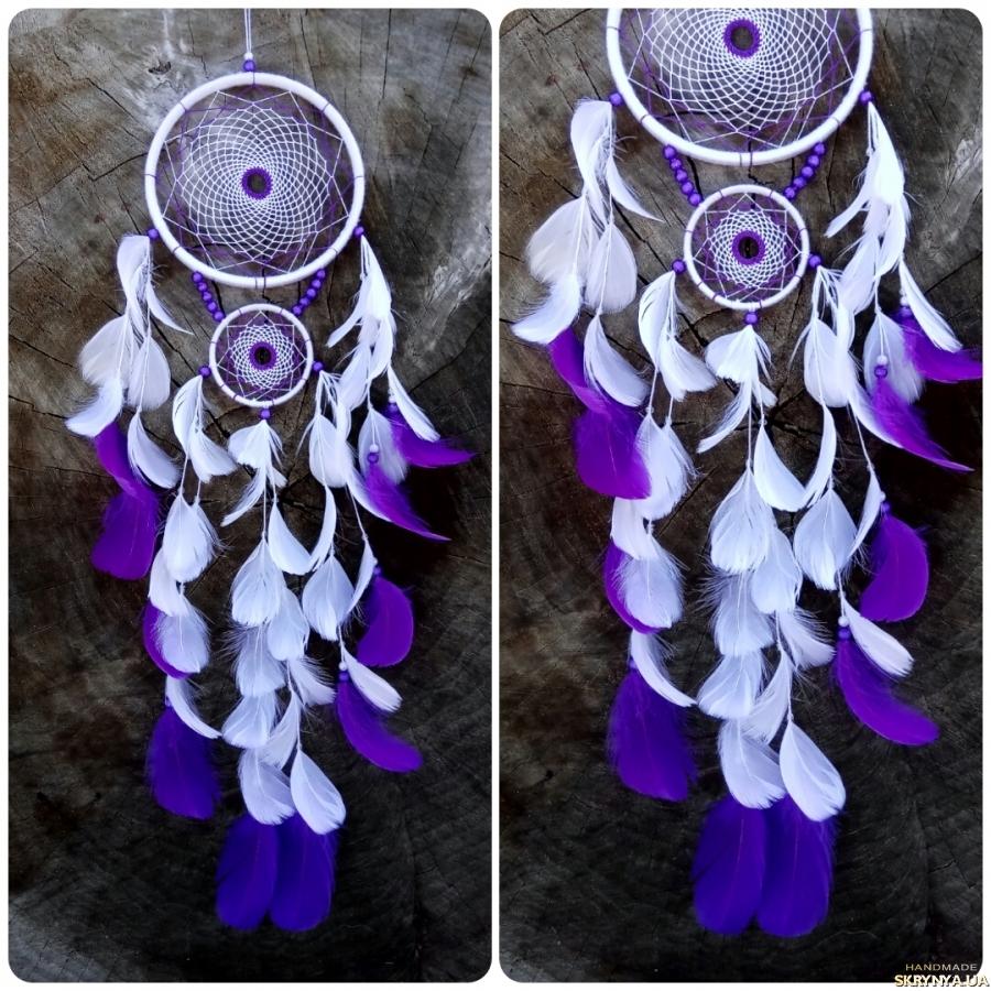 тут изображено Ловец снов бело-фиолетовый!