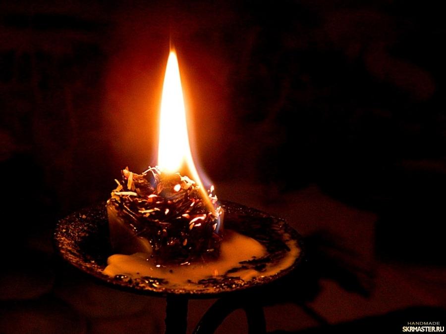 тут изображено Свеча малышка ′Хвойная′