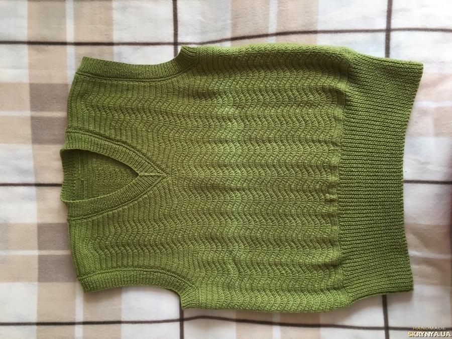 тут изображено Вязаный крючком жилет на заказ Handmade Knitting Arm_knitting Hand_knit