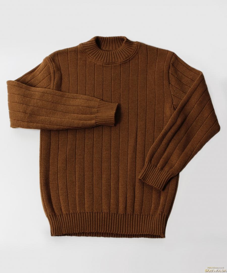 тут изображено Классический мужской свитер