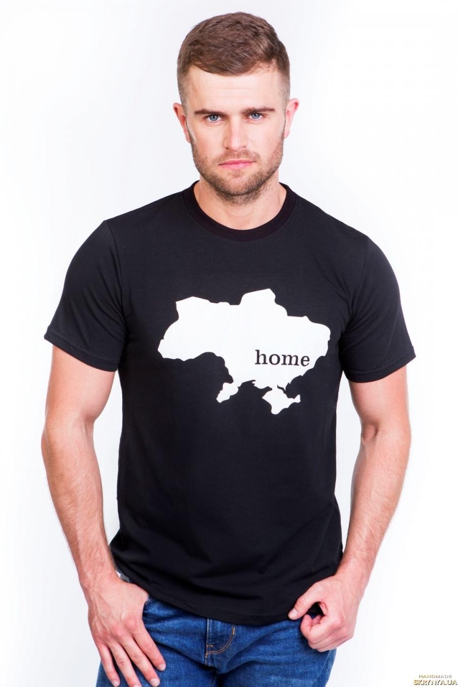 тут изображено Футболка чоловіча ′Home′