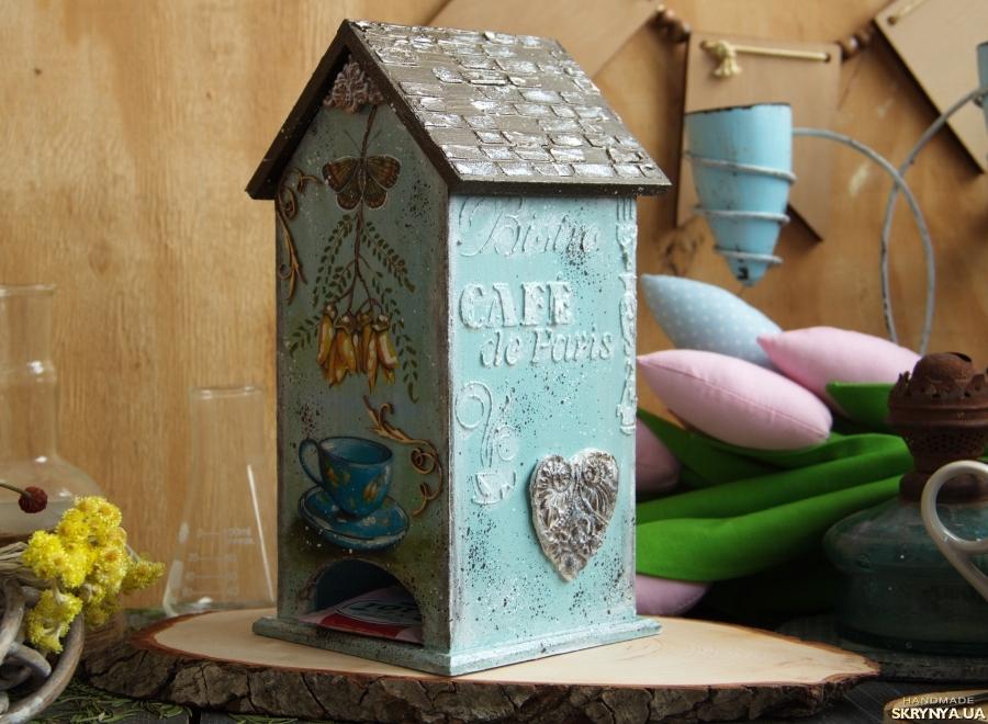 тут изображено Чайный домик ′Бирюзовое настроение′ и подсвечники. набор