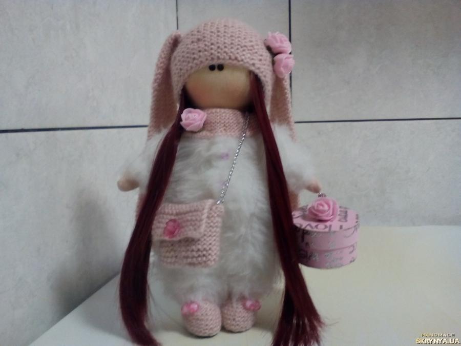тут изображено текстильная кукла ручной работы интерьерная