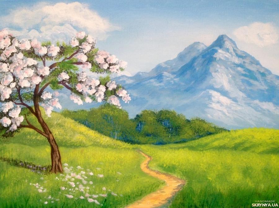 простая картина весна
