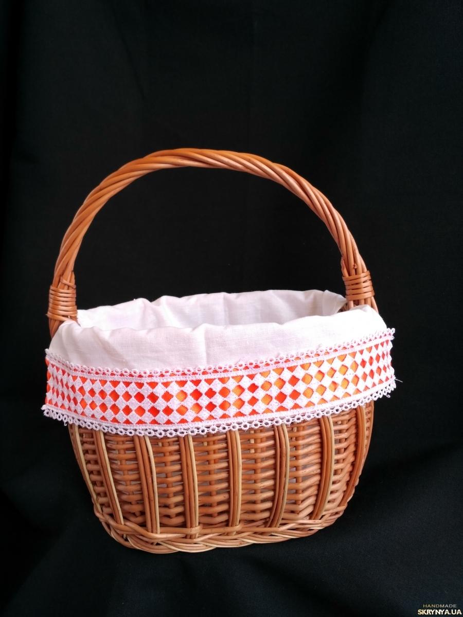 pictured here кошик великодній, корзина пасхальна, кошик для пікніка