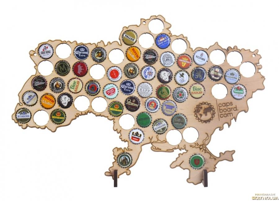 тут изображено Карта Украины для крышек CAPSBOARD UKRAINE