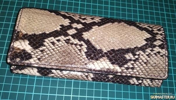 тут изображено Женский кошелёк под кожу рептилии