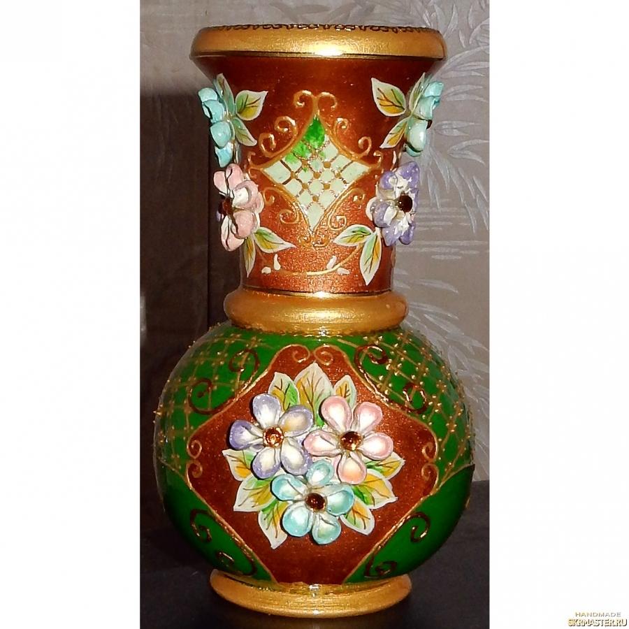 тут изображено Вазочка для сухоцветов ′Хоровод лепестков′
