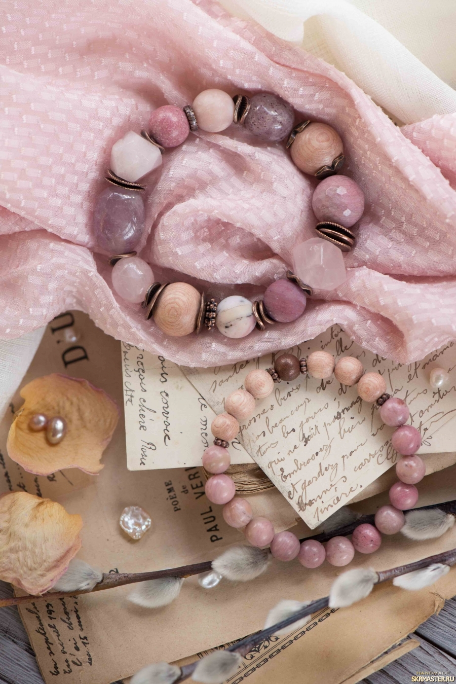 тут изображено Комплект браслетов ′Розы из Граса′