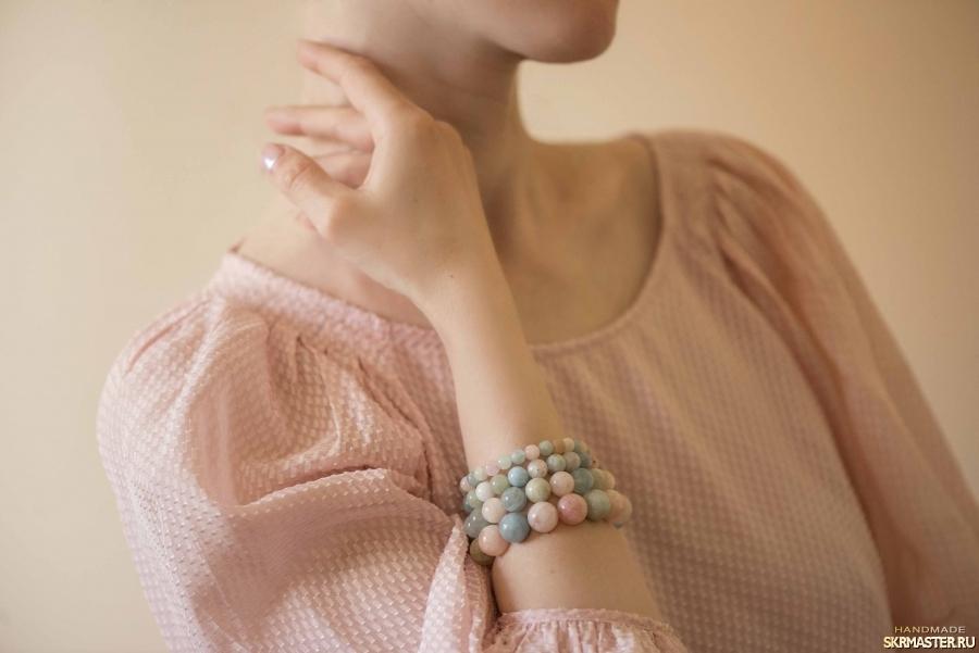 тут изображено Комплект браслетов ′Акварельный этюд′