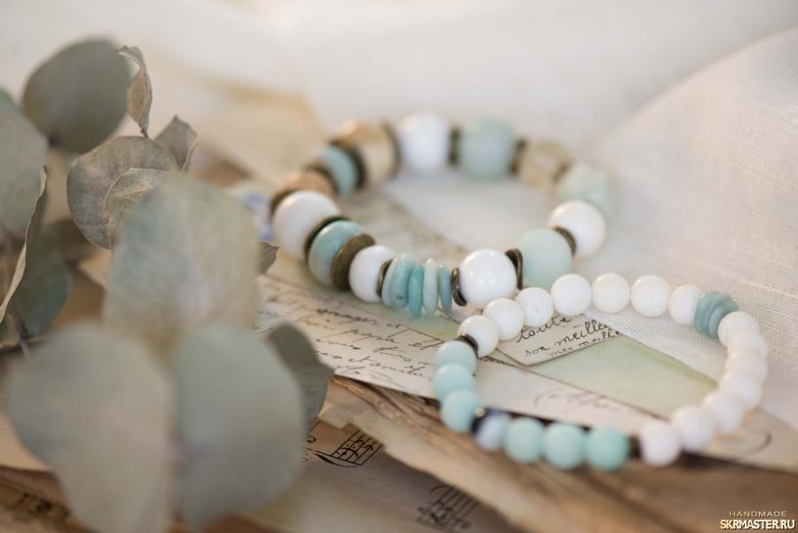 тут изображено Комплект браслетов ′Мятный сорбет′