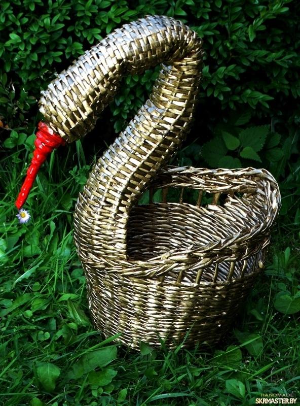 тут изображено Корзинка-лебедь