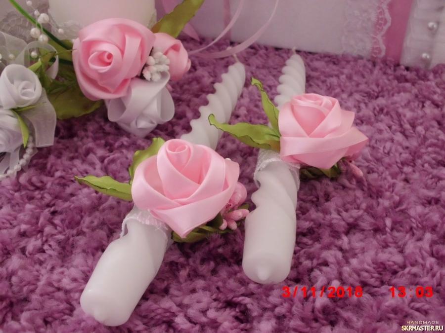 тут изображено Свечи свадебные ′Нинель′