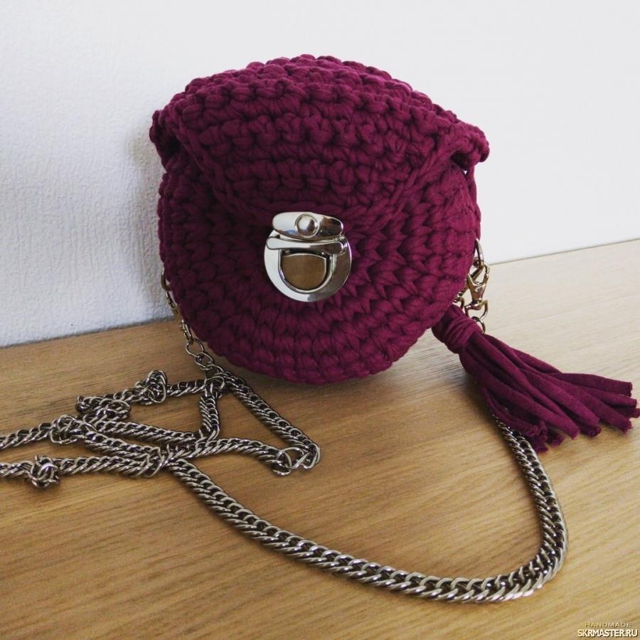 тут изображено Круглая сумочка