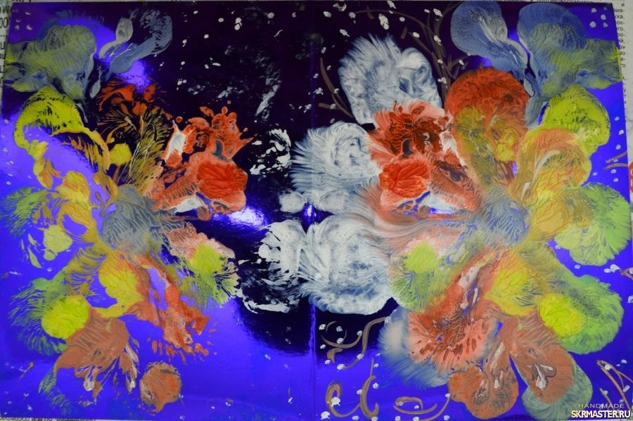 тут изображено Картина маслом  Космические фракталы